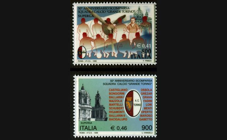 un francobollo commemorativo (ansa)