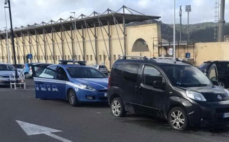 la polizia sul posto (l unione sarda murru)