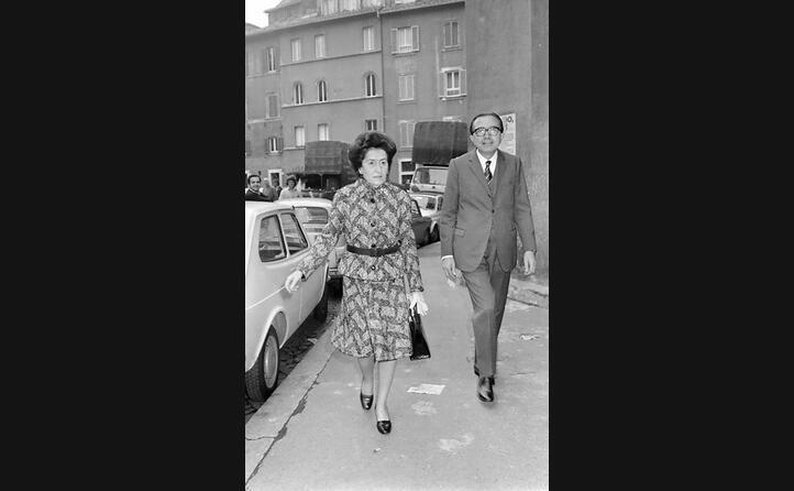 insieme alla moglie nel 1972