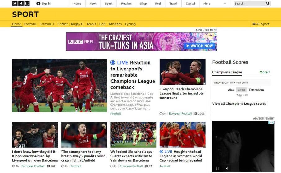 la bbc sottolinea la reazione caratteriale degli inglesi dopo il pesante ko del camp nou