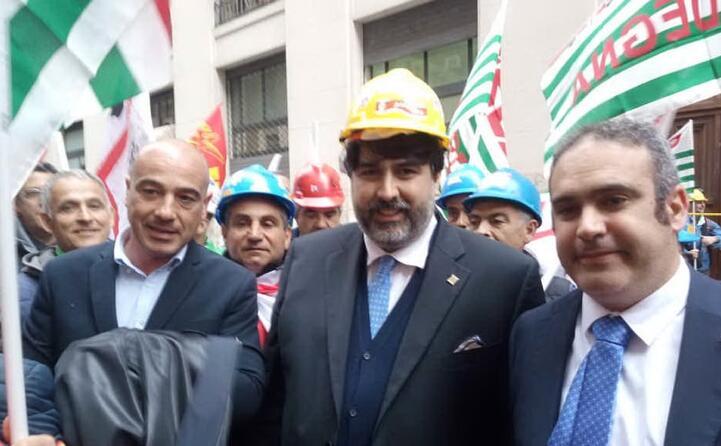 la solidariet del presidente solinas accompagnato a roma dall assessore fasolino