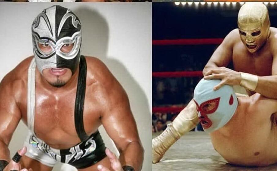 due foto di silver king pubblicate sulla pagina fb della legion lucha libre messicana
