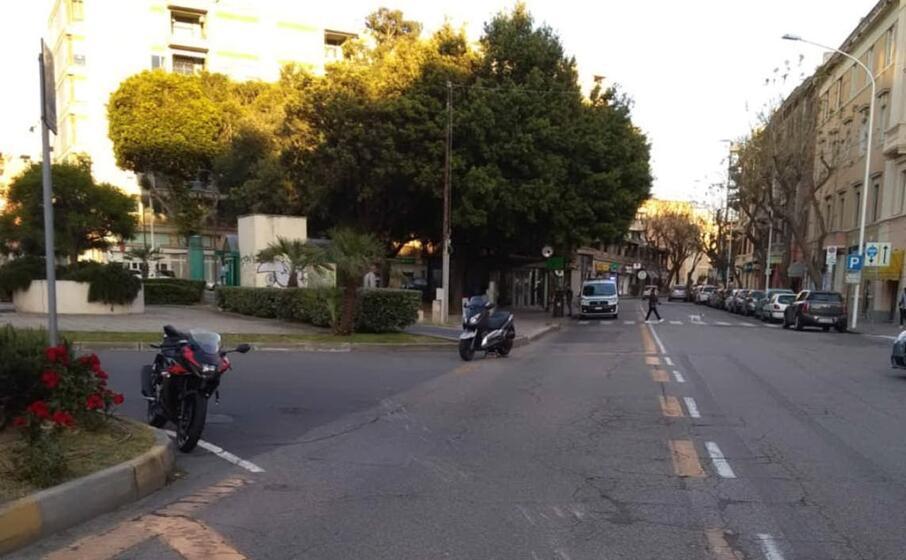 il luogo dell incidente (polizia municipale di cagliari)