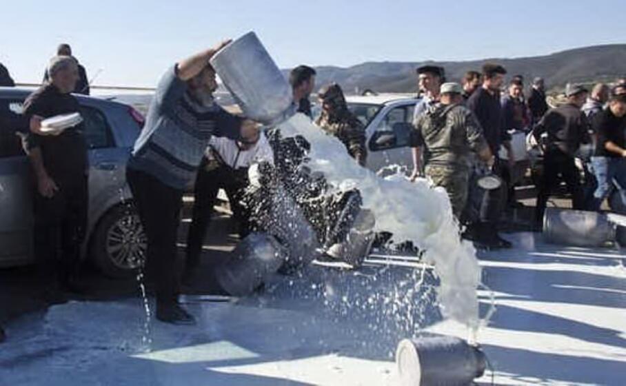 un momento della protesta di febbraio (l unione sarda tellini)