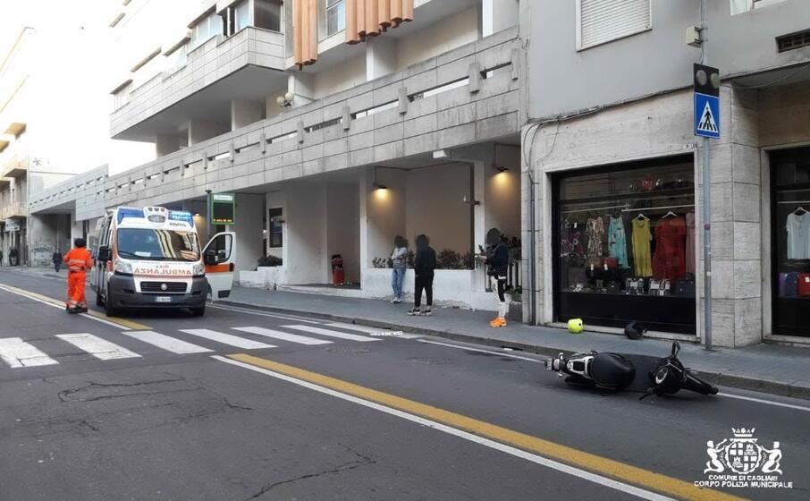 il luogo dell incidente (foto polizia municipale)
