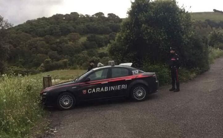 il cordone di sicurezza dei carabinieri
