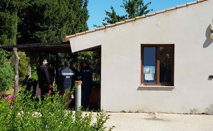 la struttura che ospitava l asilo abusivo (foto carabinieri villacidro)