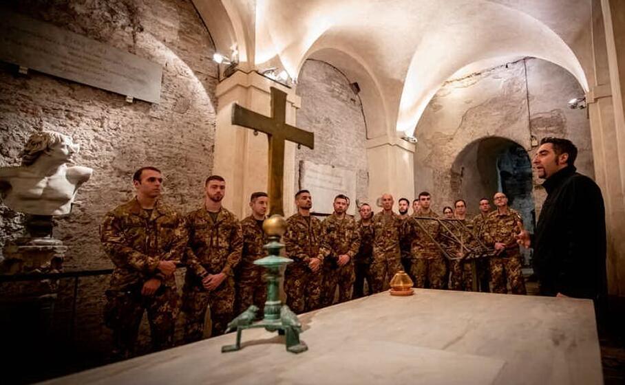 la cripta di san sebastiano