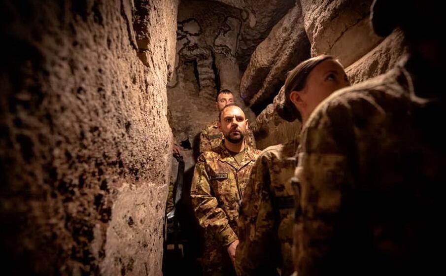 una galleria delle catacombe