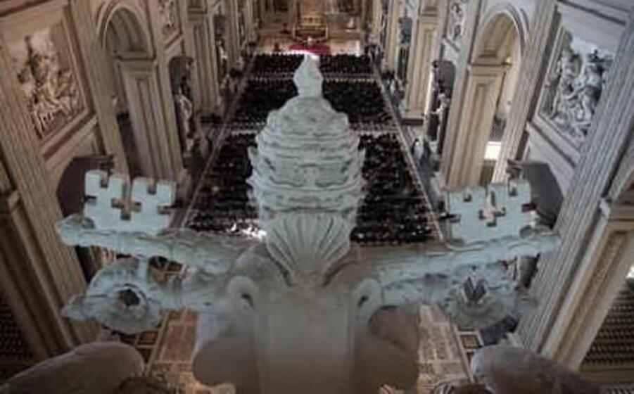 l attacco avvenuto all interno di una chiesa cattolica (ansa)