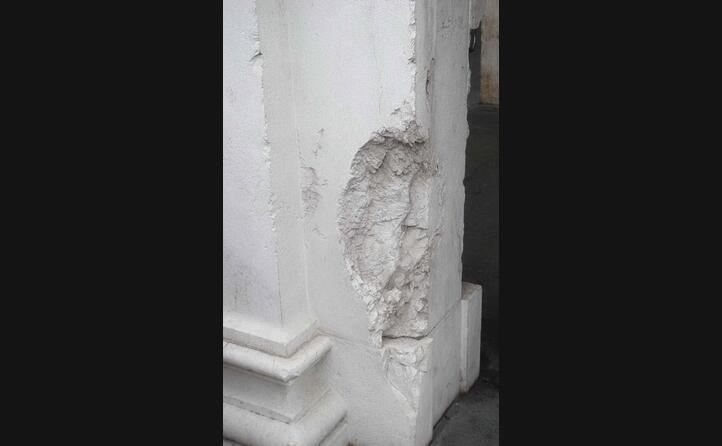 il punto in cui esplosa la bomba (foto wikipedia)
