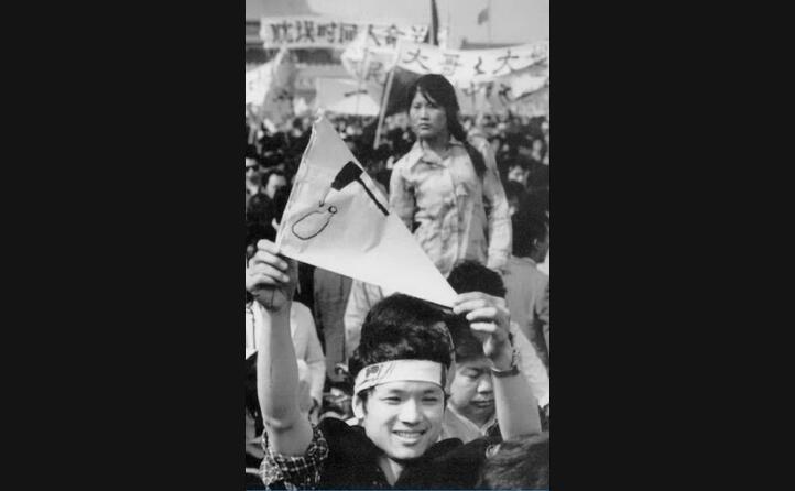 un giovane manifestante (ansa)