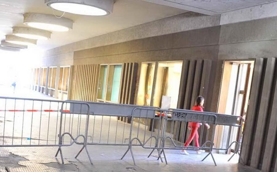 il tratto transennato della galleria (foto l unione sarda sanna)