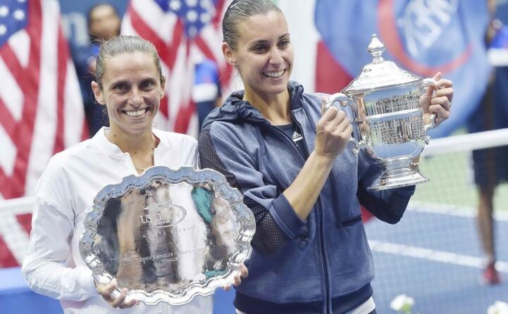 la finale tutta italiana agli us open con pennetta che batte vinci confermer qualche anno dopo il momento d oro del tennis italiano al femminile (tutte le foto sono ansa)