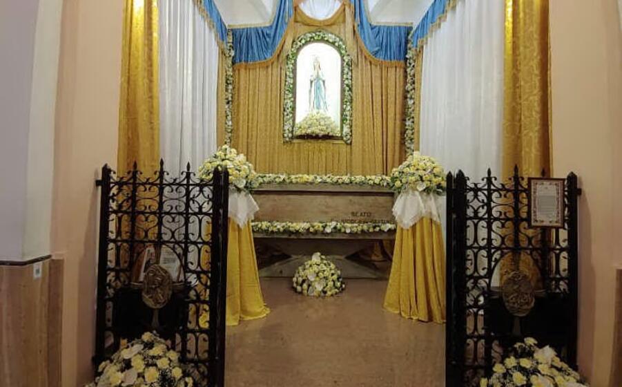 la tomba del beato (foto l unione sarda piano)