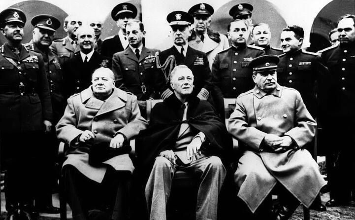 yalta crimea churchill roosvelt e stalin si dividono il mondo