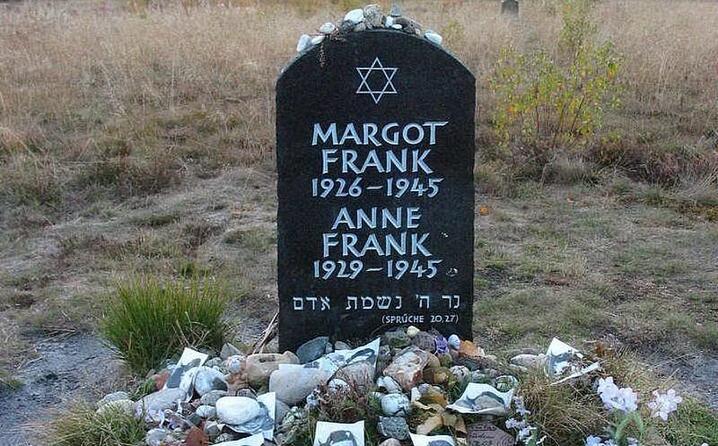 la tomba di anna e margot frank bergen belsen