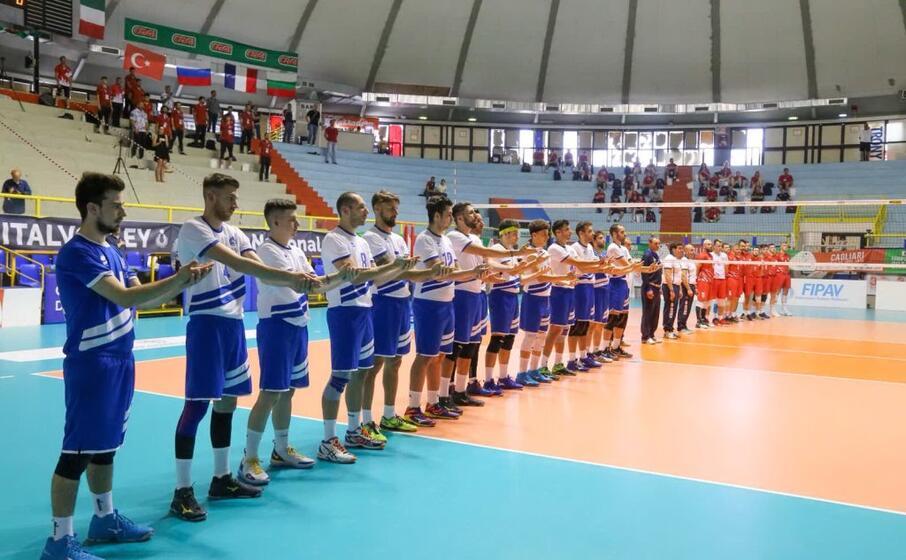 la squadra azzurra prima della semifinale persa contro la russia (foto l unione sarda fornasier)