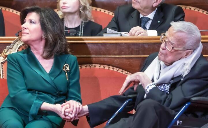 il presidente del senato elisabetta casellati e franco zeffirelli