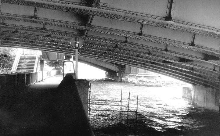 il ponte sotto il quale stato trovato il corpo