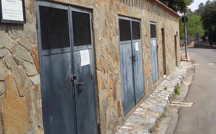 la cabina sorgente che alimenta il paese (foto l unione sarda farris)
