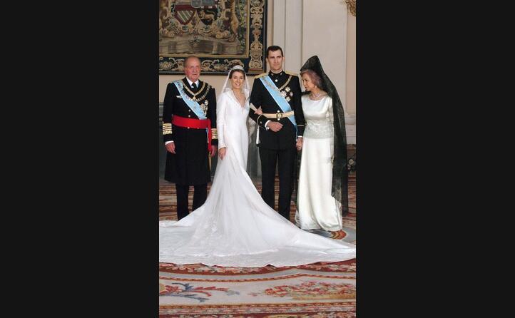 il giorno del matrimonio con letizia