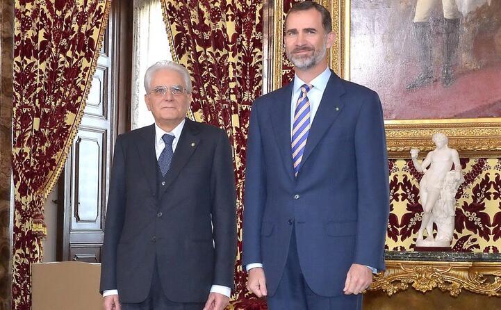 insieme al presidente della repubblica italiana sergio mattarella