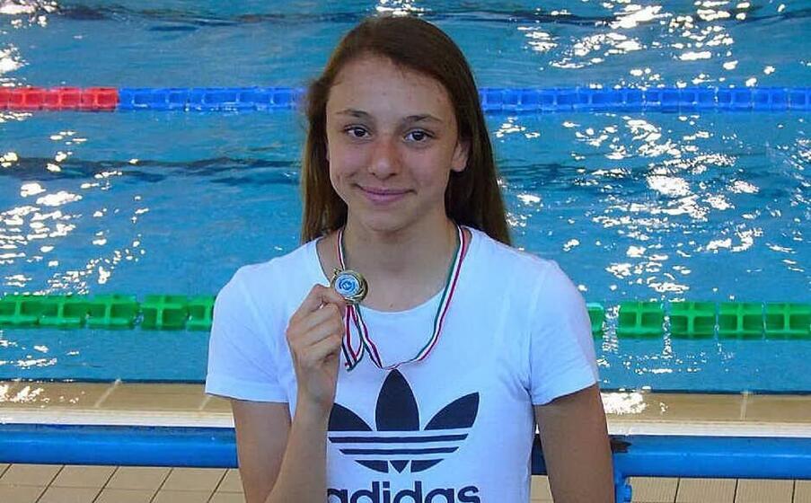 alice maggioni la pi giovane nuotatrice della paattuglia sarda in gara al trofeo sette colli (foto l unione sarda fornasier)
