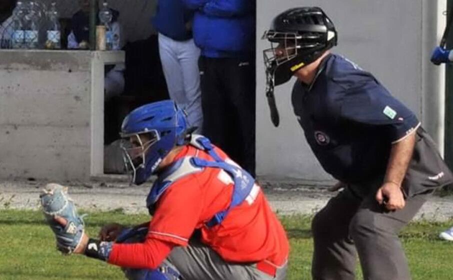 federico sireus catcher del cagliari baseball (foto gianclaudio ghiani)