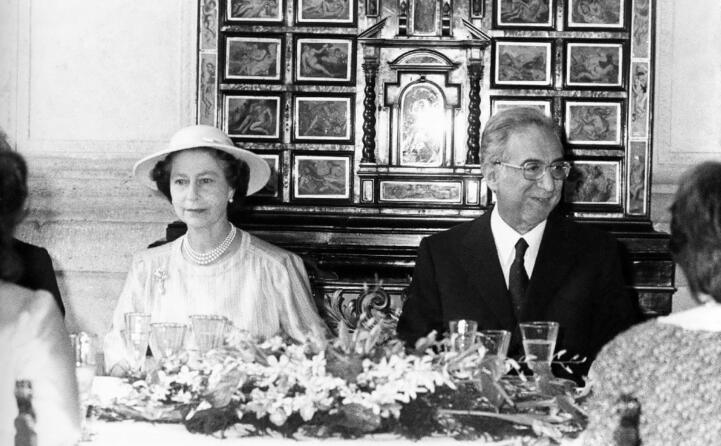 con la regina elisabetta