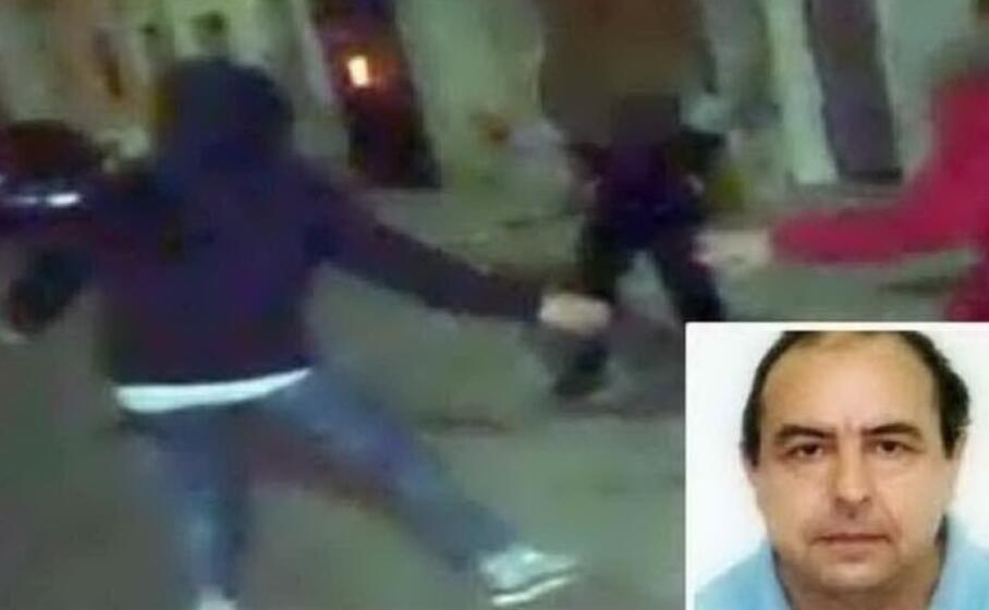 un fermo immagine tratto da un video degli agenti nel riquadro antonio stano (foto polizia)