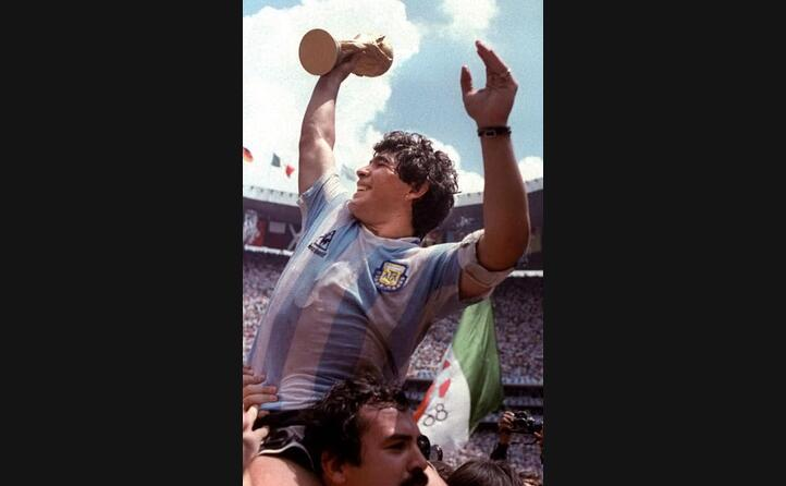 maradona durante la coppa del mondo del 1986