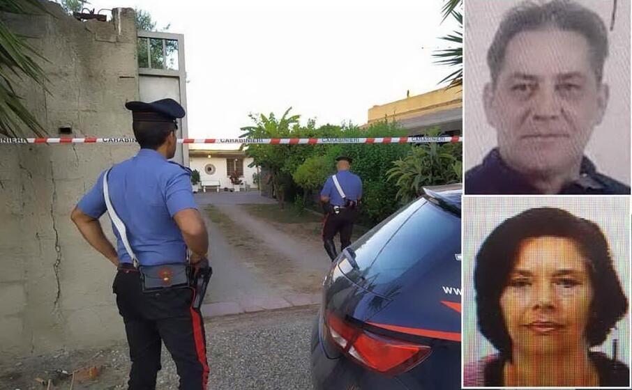 i carabinieri sul luogo del delitto (foto andrea serreli) nei riquadri i fratelli mallus