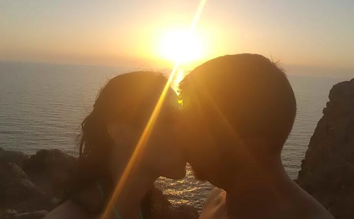 capo san marco il bacio al tramonto di paola e roberto