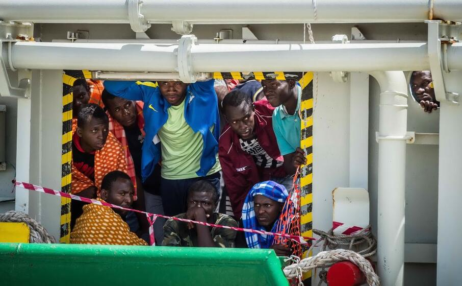migranti in libia (ansa)