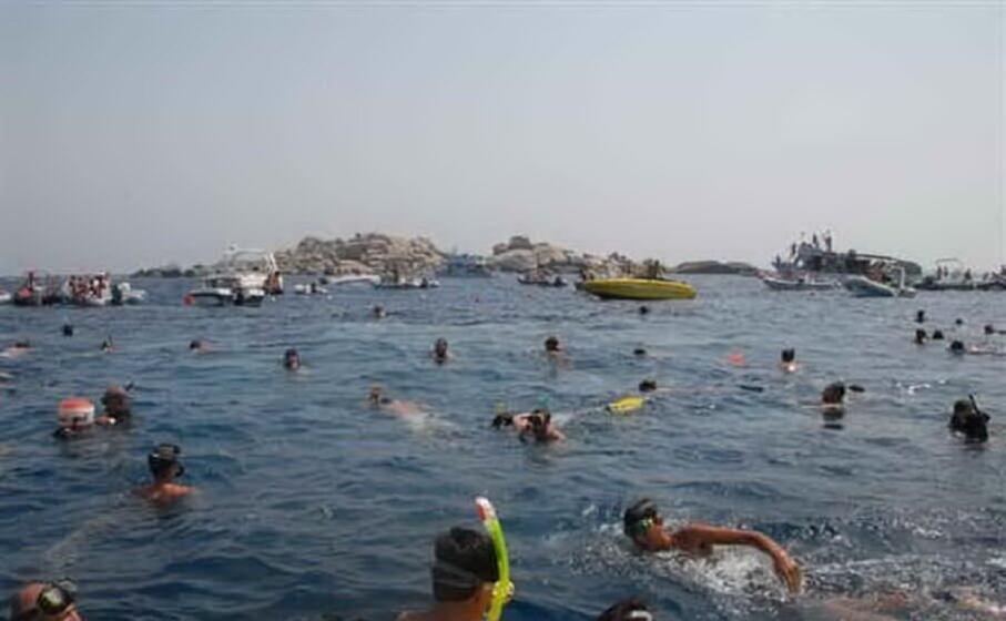 le immersioni per la madonna del naufrago (foto l unione sarda serreli)