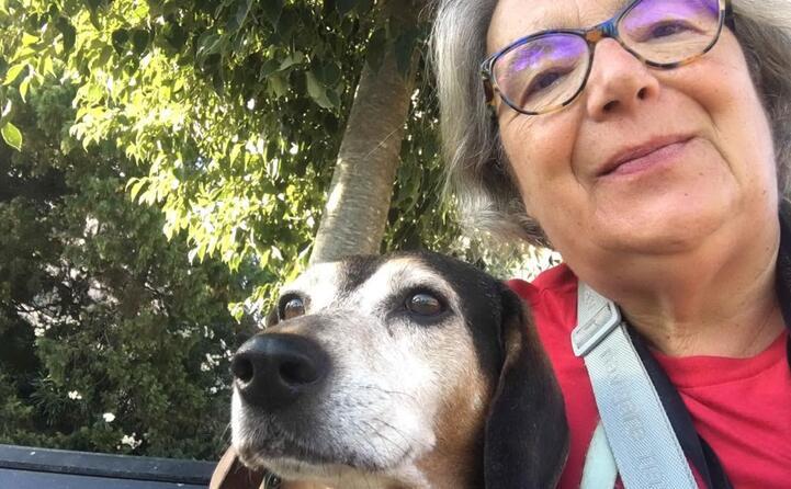 andreina con morfeo un piccolo cane trovato appeso ad un albero salvato e adesso felice