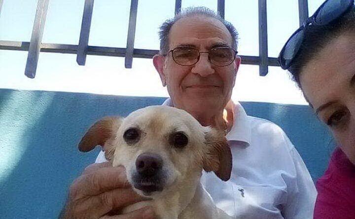 da francesca burranca domusnovas la mia cagnolina lilla con mio padre giovanni