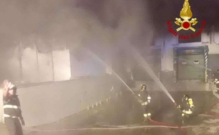 i pompieri in azione
