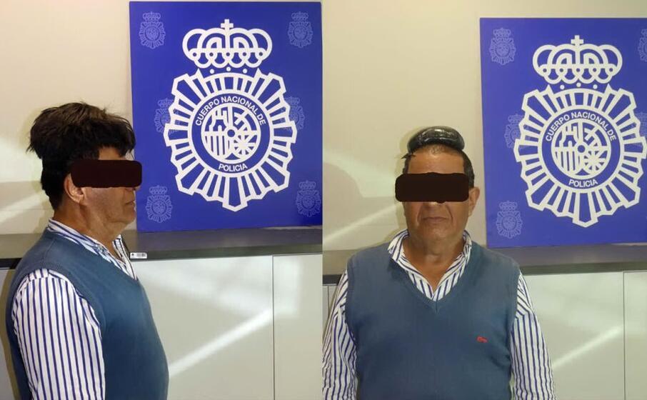 il trafficante di droga finito in manette (foto twitter polizia spagnola)