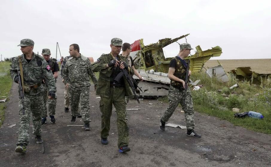 militari sul luogo dell abbattimento