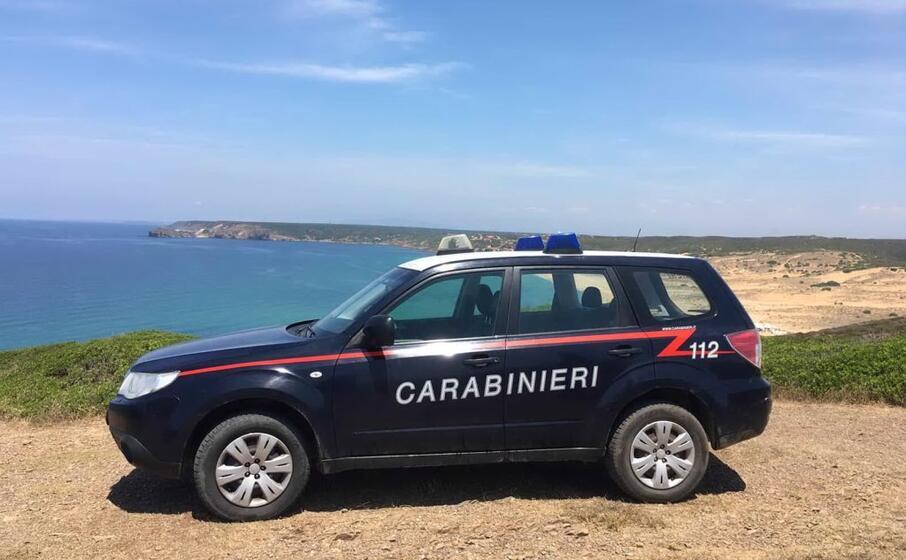 i carabinieri (foto l unione sarda pintori)