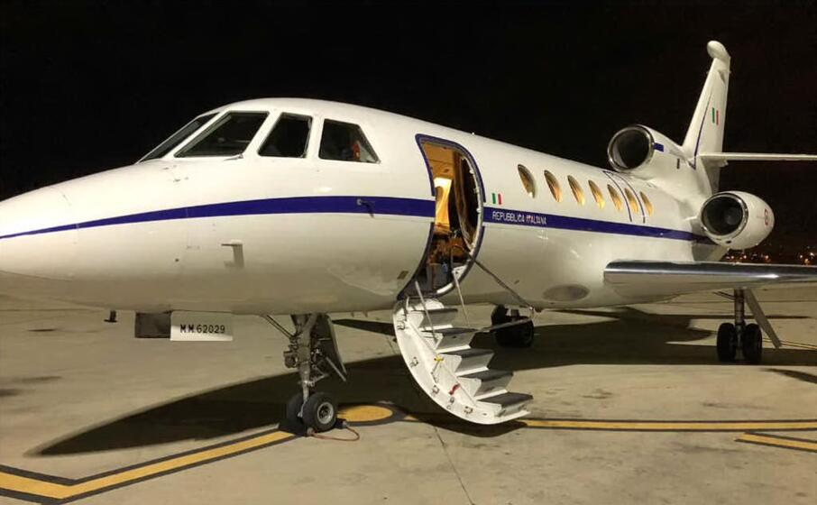 il falcon 50 (foto twitter aeronautica militare)