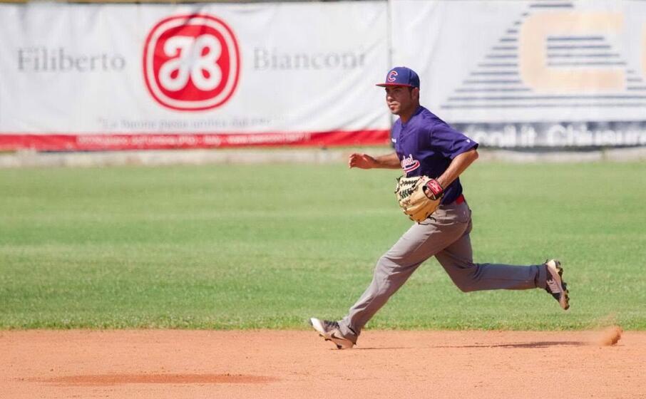 kleyvert rodriguez cueto del cagliari baseball (foto claudio acquafresca)