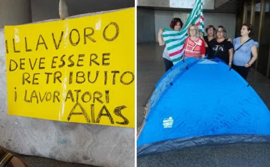 la protesta davanti al consiglio regionale (l unione sarda farris)