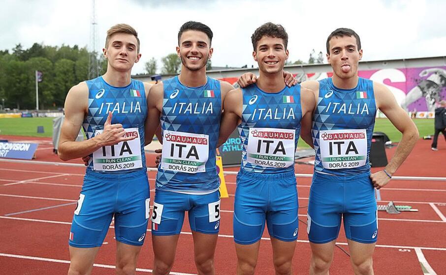 patta (secondo da sinistra) con gli altri steffettisti azzurri (foto fidal)