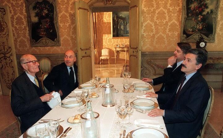 a cena con velardi d alema e de bortoli