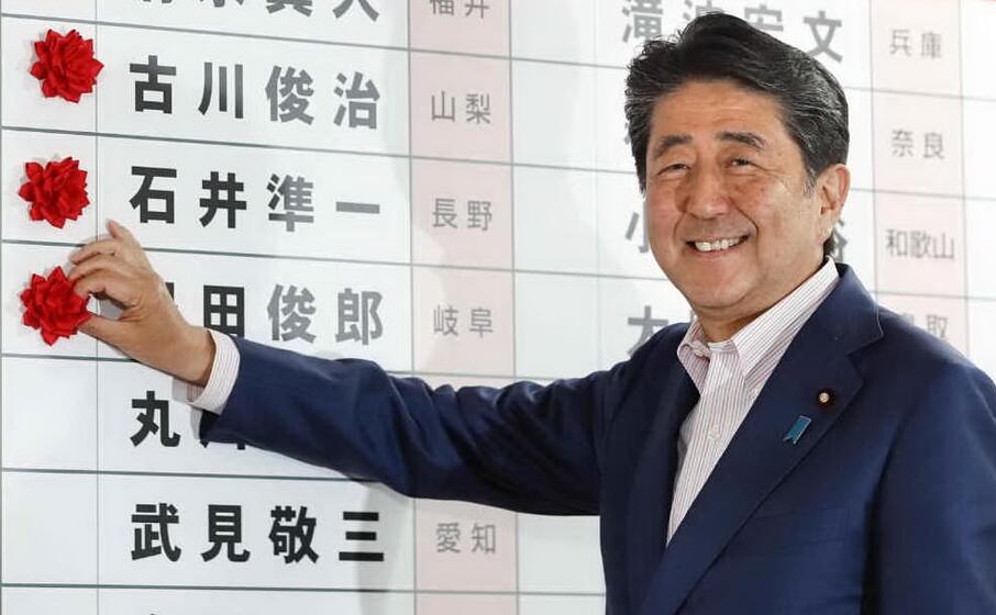 il premier giapponese shinzo abe (ansa)