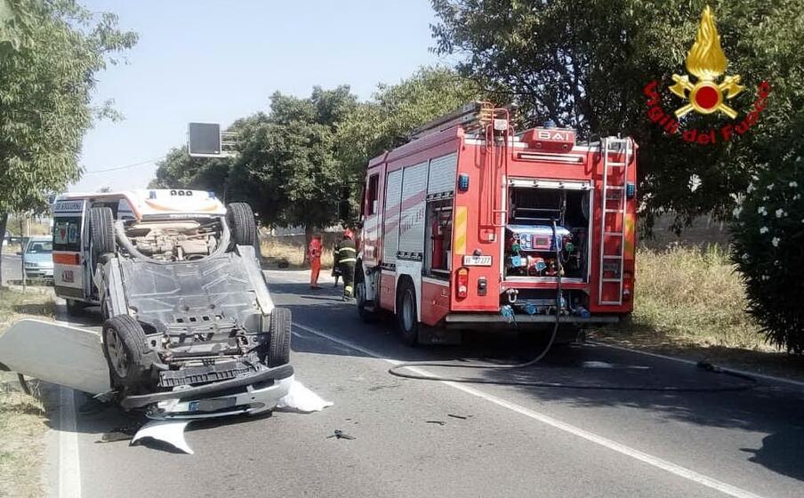 l incidente (foto vigili del fuoco)