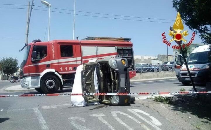 l incidente in via cinquini a cagliari
